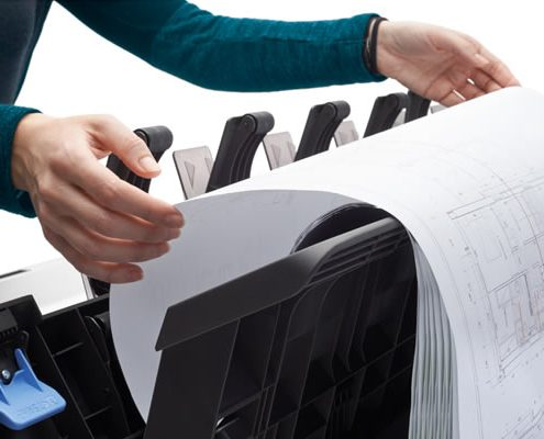HP DesignJet T2600 stacker